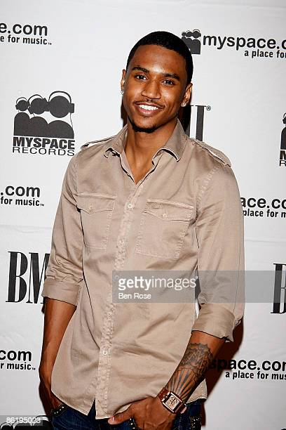 Recording Artist Trey Songz poses backstage during the BMI 12th annual Unsigned Urban Showcase at E.S.S.O. Nightclub on April 23, 2009 in Atlanta,...
