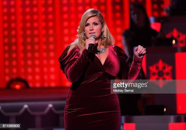 Recording artist Trisha Yearwood performs during CMA 2017 Country Christmas at The Grand Ole Opry on November 14 2017 in Nashville Tennessee