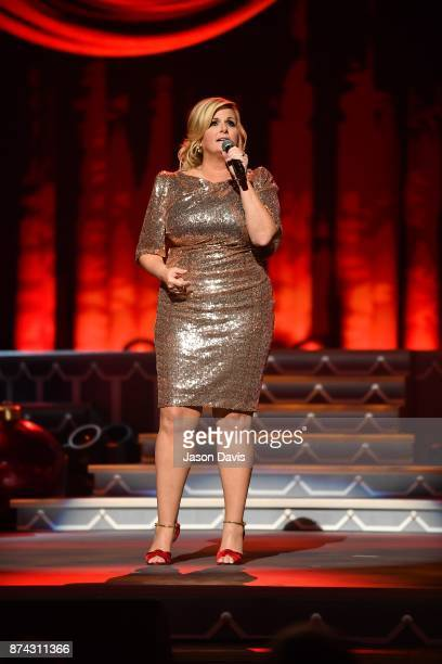 Recording Artist Trisha Yearwood performs on stage during the 2017 CMA Country Christmas at The Grand Ole Opry on November 14 2017 in Nashville...