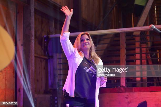 Recording artist Trisha Yearwood performs onstage in the HGTV Lodge at CMA Music Fest on June 9 2018 in Nashville Tennessee