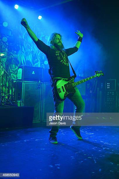Recording Artist Troy Sanders of Mastodon performs at Marathon Music Works on November 6 2014 in Nashville Tennessee