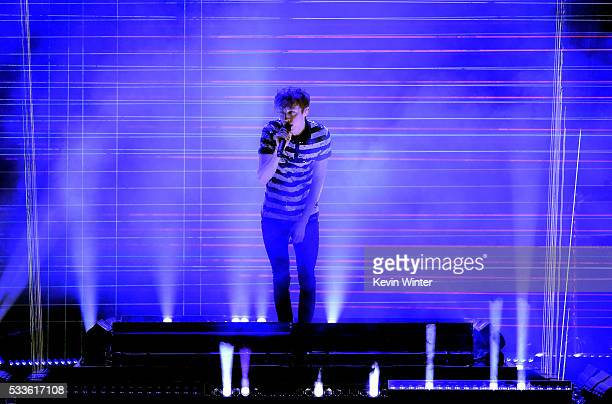 Recording artist Troye Sivan performs onstage during the 2016 Billboard Music Awards at TMobile Arena on May 22 2016 in Las Vegas Nevada
