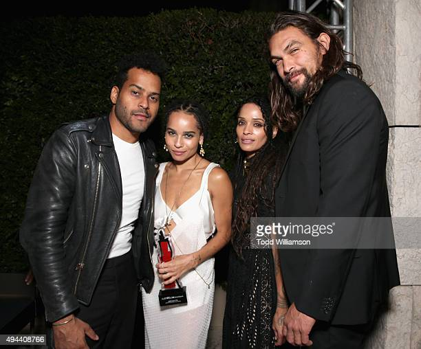 Recording artist Twin Shadow actors Zoe Kravitz Jason Momoa and Lisa Bonet attend the InStyle Awards at Getty Center on October 26 2015 in Los...