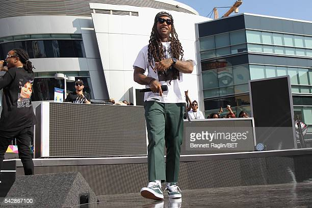 Recording artist Ty Dolla Sign performs onstage at 106 Park sponsored by Apple Music during the 2016 BET Experience at Microsoft Square on June 24...