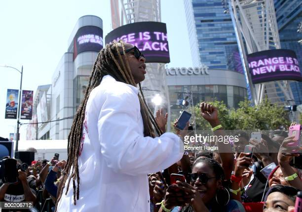 Recording artist Ty Dolla Sign performs onstage during day two of 2017 BETX Live sponsored by McDonald's at Gilbert Lindsey Plaza on June 23 2017 in...