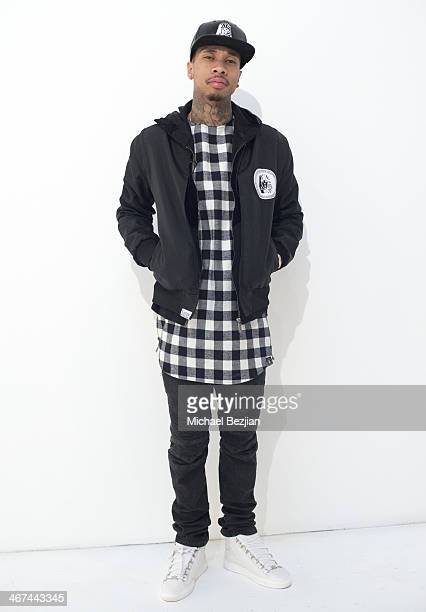 Recording artist Tyga visits Known Gallery on February 6 2014 in Los Angeles California
