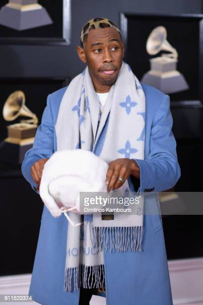 Recording artist Tyler The Creator attends the 60th Annual GRAMMY Awards at Madison Square Garden on January 28 2018 in New York City