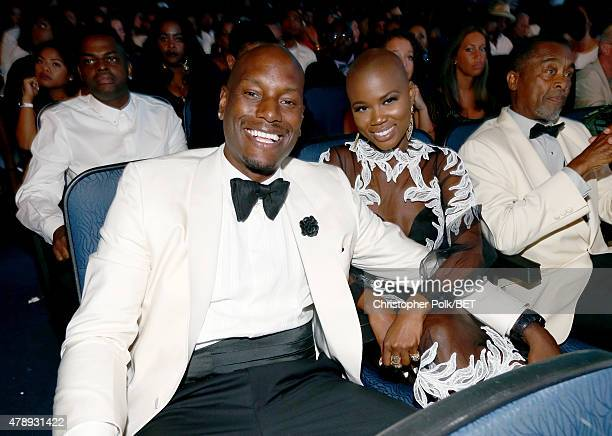 Recording artist Tyrese Gibson attends the 2015 BET Awards at the Microsoft Theater on June 28 2015 in Los Angeles California