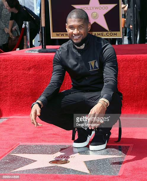 Recording artist Usher attends his being honored with a Star on the Hollywood Walk of Fame on September 7 2016 in Hollywood California