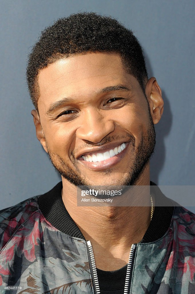 Recording artist Usher attends NBC's 'The Voice' Red Carpet Event at The Sayers Club on April 3, 2014 in Hollywood, California.