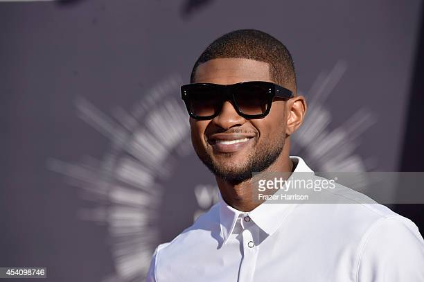 Recording artist Usher attends the 2014 MTV Video Music Awards at The Forum on August 24 2014 in Inglewood California