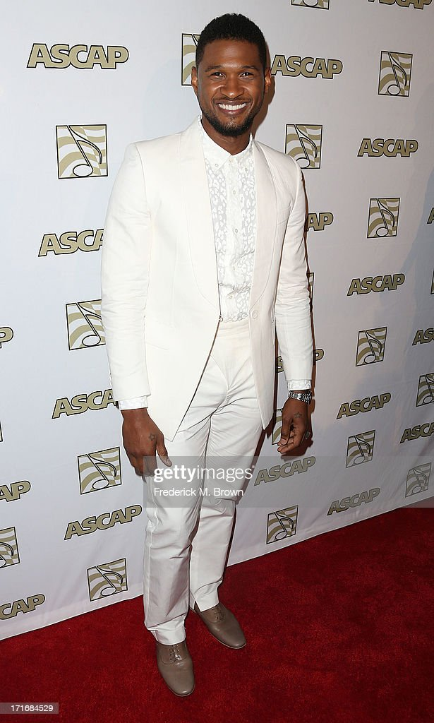 Recording artist Usher attends The American Society of Composers, Authors and Publishers (ASCAP) 26th Annual Rhythm & Soul Music Awards at The Beverly Hilton Hotel on June 27, 2013 in Beverly Hills, California.