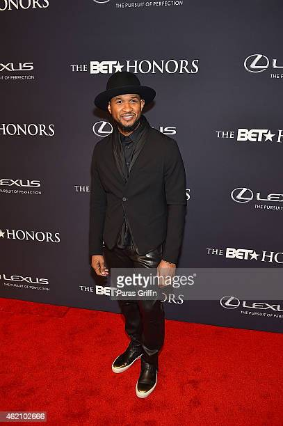 Recording artist Usher attends 'The BET Honors' 2015 at Warner Theatre on January 24 2015 in Washington DC