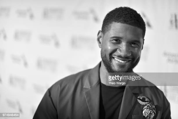 Recording artist Usher attends the Songwriters Hall of Fame 49th Annual Induction and Awards Dinner at New York Marriott Marquis Hotel on June 14...