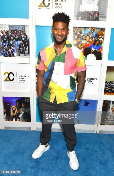 Recording artist Usher attends Usher New Look Foundation Summit 20th Anniversary VIP Fundraiser at The Gathering Spot on July 24, 2019 in Atlanta,...