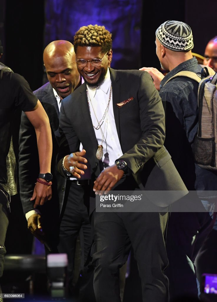 Recording artist Usher onstage at 2017 Andrew Young International Leadership Awards and 85th Birthday Tribute at Philips Arena on June 3, 2017 in Atlanta, Georgia.
