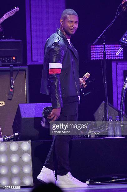 Recording artist Usher performs onstage during the 2014 iHeartRadio Music Festival at the MGM Grand Garden Arena on September 19, 2014 in Las Vegas,...
