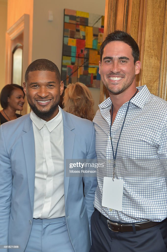 Recording Artist Usher Raymond and Josh Murray attend Ushers New Look United to Ignite Awards Exclusive VIP Reception on July 22, 2015 in Atlanta, Georgia.