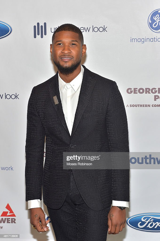 Recording Artist Usher Raymond attend Ushers New Look United to Ignite Awards Presidents Circle Luncheon on July 23, 2015 in Atlanta, Georgia.