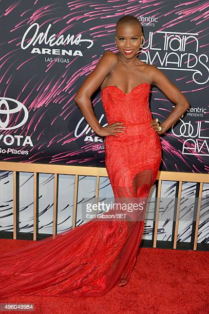 Recording artist V Bozeman attends the 2015 Soul Train Music Awards at the Orleans Arena on November 6 2015 in Las Vegas Nevada