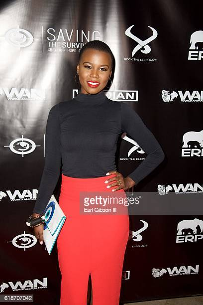 Recording Artist V Bozeman attends the Fundraiser Event For Rock The Elephant at Hotel BelAir on October 27 2016 in Los Angeles California