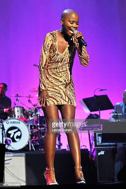 Recording artist V Bozeman performs onstage at the 2015 BMI RB/HipHop Awards at Saban Theatre on August 28 2015 in Beverly Hills California