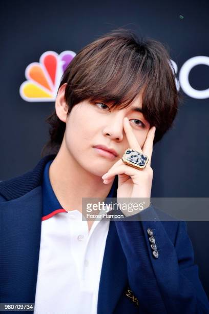 Recording artist V of musical group BTS attends the 2018 Billboard Music Awards at MGM Grand Garden Arena on May 20 2018 in Las Vegas Nevada