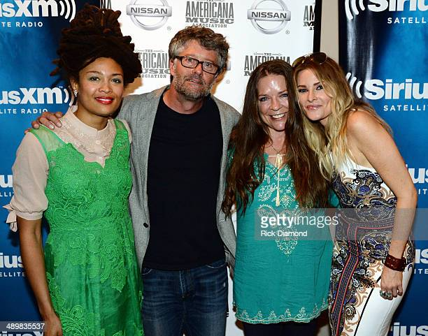 Recording Artist Valerie June Executive Director Americana Music Association Jed Hilly Recording Artists Carlene Carter and Elizabeth Cook during the...