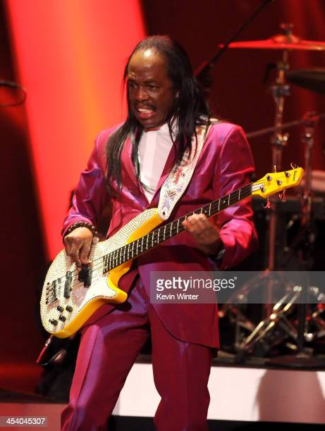 Recording artist Verdine White performs onstage during The GRAMMY Nominations Concert Live Countdown to Music's Biggest Night at Nokia Theatre LA...