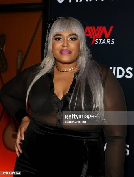 Recording artist Veronica Cooper attends the 2020 GayVN Awards show at The Joint inside the Hard Rock Hotel & Casino on January 20, 2020 in Las...
