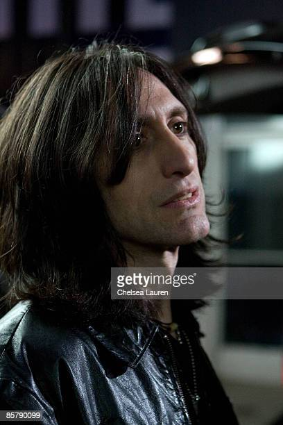 Recording Artist Vic Karrera of the Charm City Devils on set at JVC Mobile's Turn Me On Again Video Shoot at CBS Studios on April 2 2009 in Studio...