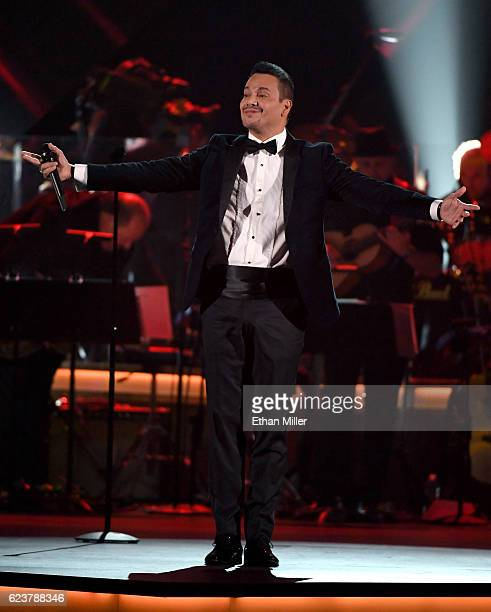 Recording artist Victor Manuelle onstage during the 2016 Person of the Year honoring Marc Anthony at MGM Grand Garden Arena on November 16 2016 in...