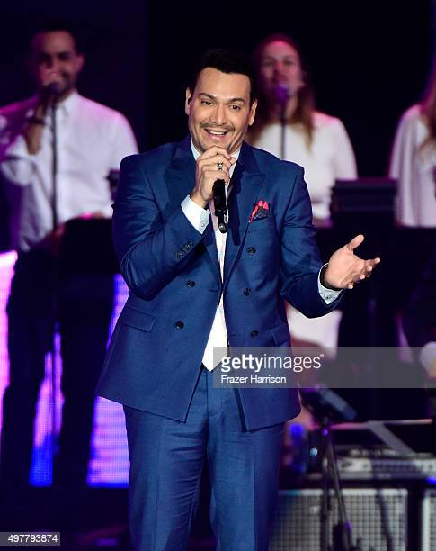 Recording artist Victor Manuelle performs onstage during the 2015 Latin GRAMMY Person of the Year honoring Roberto Carlos at the Mandalay Bay Events...