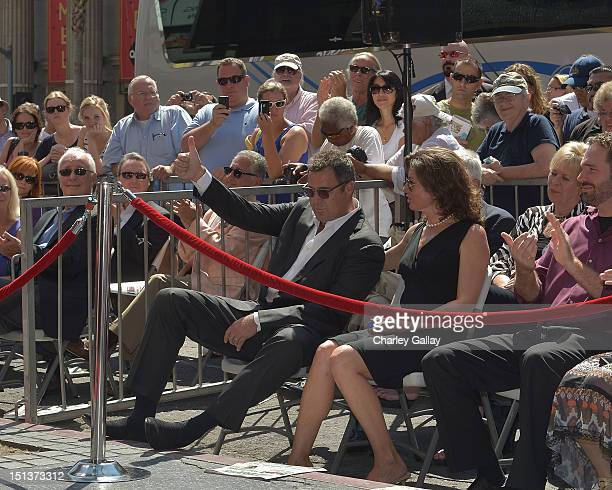Recording artist Vince Gill and wife recording artist Amy Grant attend Vince Gill being honored with a Star on the Hollywood Walk of Fame on...