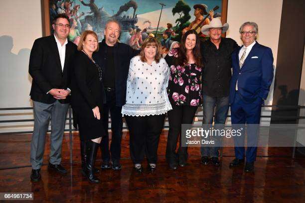 Recording Artist Vince Gill, CMA CEO Sarah Trahern, Songwriter Don Schlitz, Seidina Hubbard and Lottie Zavala, daughters of the late Jerry Reed,...