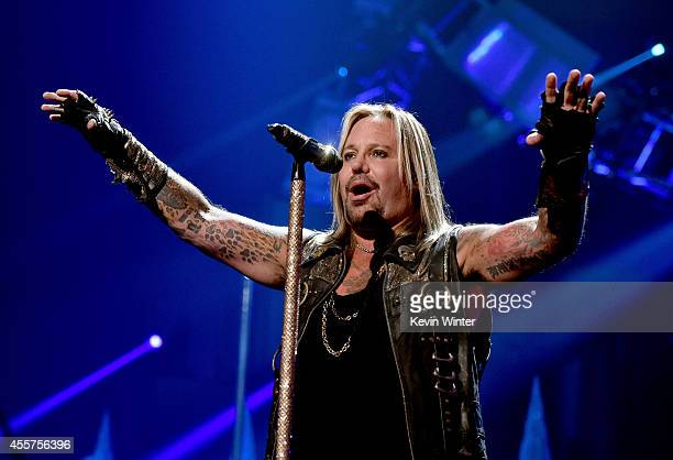 Recording artist Vince Neil of the band Motley Crue performs onstage during the 2014 iHeartRadio Music Festival at the MGM Grand Garden Arena on...
