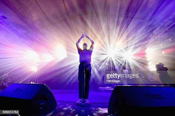 Recording artist Vince Staples performs onstage at This Tent during Day 2 of the 2016 Bonnaroo Arts And Music Festival on June 10 2016 in Manchester...