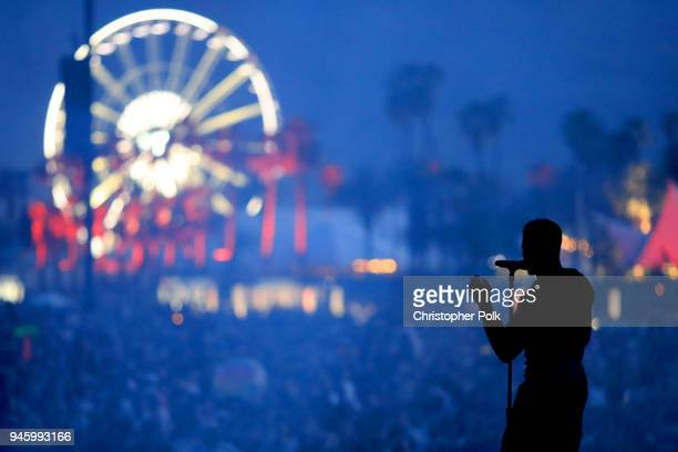 Recording Artist Vince Staples performs onstage the 2018 Coachella Valley Music And Arts Festival at the Empire Polo Field on April 13 2018 in Indio...
