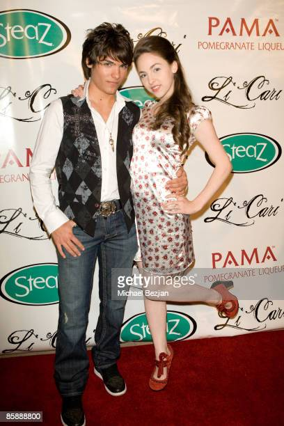 Recording artist Vincent Tomas and actress Brittany Curran attend Diane Merrick Boutique's launch party on April 9 2009 in Los Angeles California