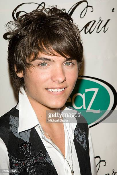 Recording artist Vincent Tomas attends Diane Merrick Boutique's launch party on April 9 2009 in Los Angeles California
