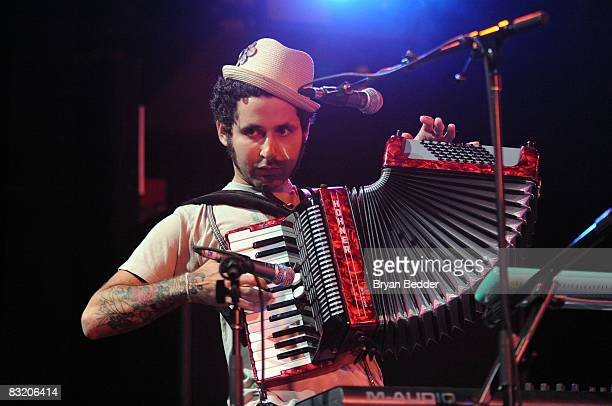 Recording artist Visitante of Calle 13 performs at Nokia Theatre on October 9 2008 in New York City