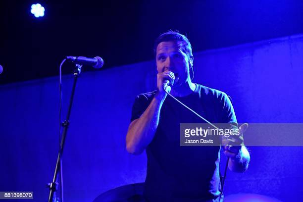 Recording Artist Walker Hayes performs on stage during his Album Launch Show at Third Man Records on November 28 2017 in Nashville Tennessee