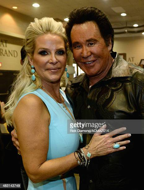 Recording artist Wayne Newton and Kathleen McCrone attend the 49th Annual Academy of Country Music Awards at the MGM Grand Garden Arena on April 6...