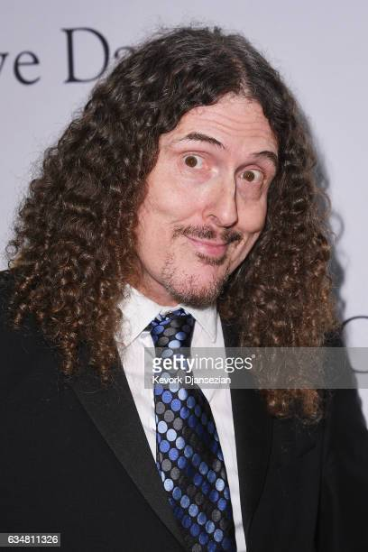 Recording artist 'Weird Al' Yankovic attends PreGRAMMY Gala and Salute to Industry Icons Honoring Debra Lee at The Beverly Hilton on February 11 2017...