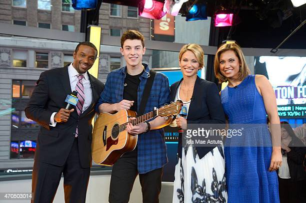 Recording artist who started as an internet sensation, Shawn Mendes, performs live on GOOD MORNING AMERICA, 4/17/15, airing on the Walt Disney...