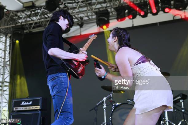 Recording artist Will Toldeo of Car Seat Headrest and a guest performer onstage at This Tent during Day 2 of the 2017 Bonnaroo Arts And Music...