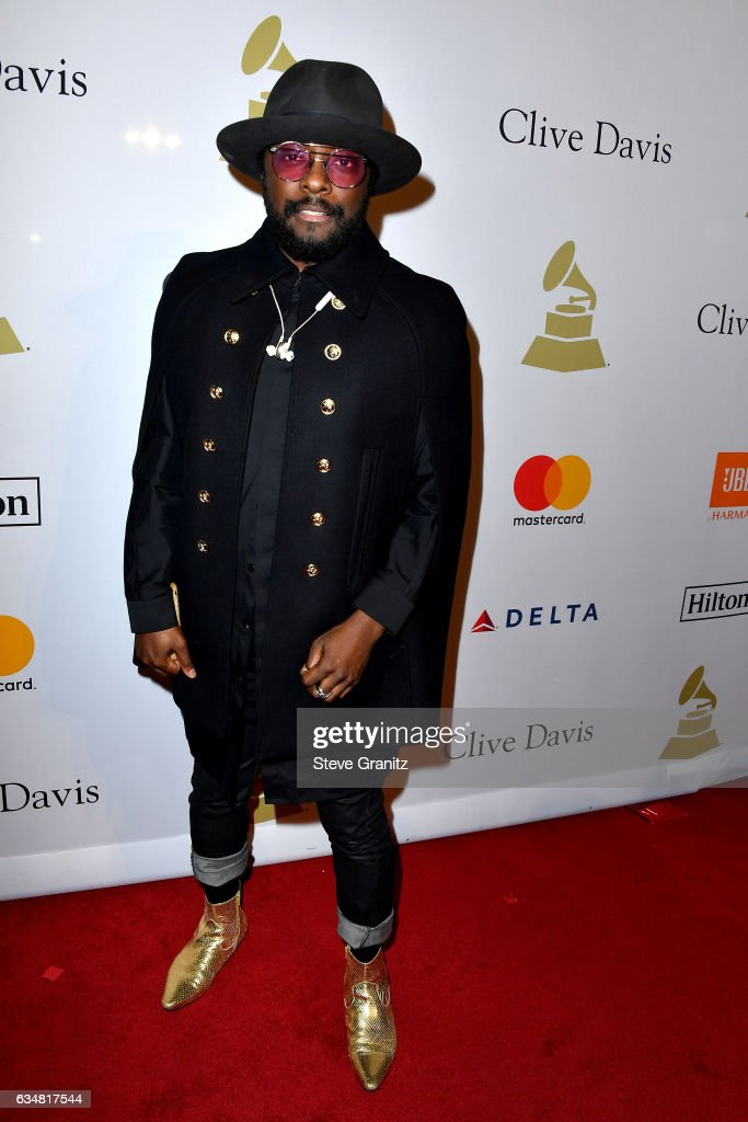 Recording artist will.i.am attends Pre-GRAMMY Gala and Salute to Industry Icons Honoring Debra Lee at The Beverly Hilton on February 11, 2017 in Los Angeles, California.