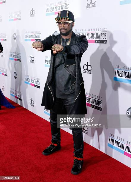 Recording artist will.i.am. Attends the 40th American Music Awards held at Nokia Theatre L.A. Live on November 18, 2012 in Los Angeles, California.