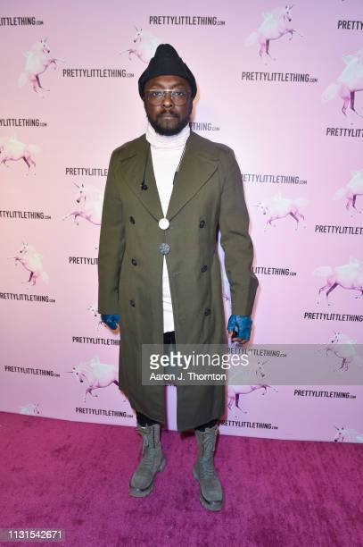 Recording Artist WillIAm attends the #PRETTY Video Release Celebration hosted by PrettyLittleThingcom at Stanley Social on February 22 2019 in Los...
