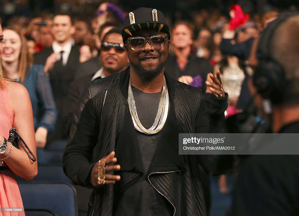 Recording artist will.i.am in the audience at the 40th American Music Awards held at Nokia Theatre L.A. Live on November 18, 2012 in Los Angeles, California.
